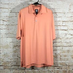 FJ FootJoy Mens Polo Golf Shirt Orange